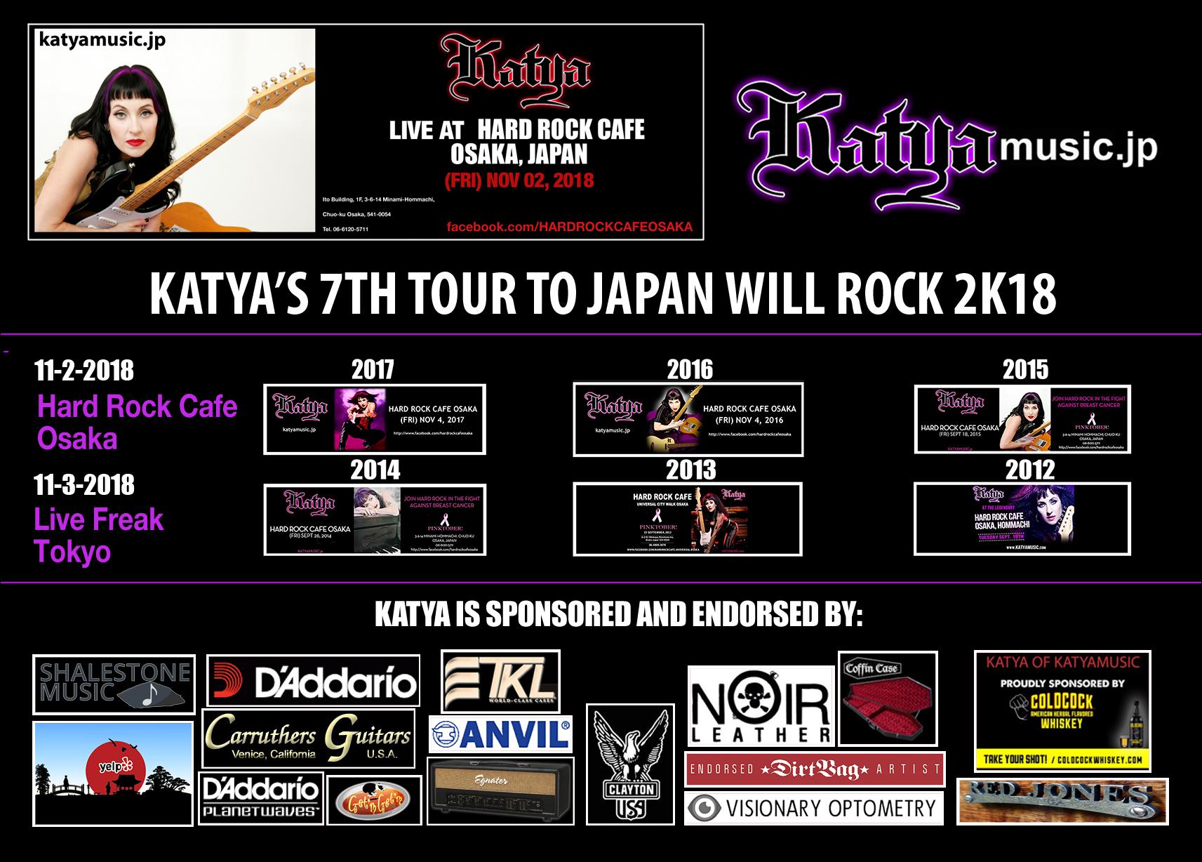 KATYA 2018 JAPAN TOUR